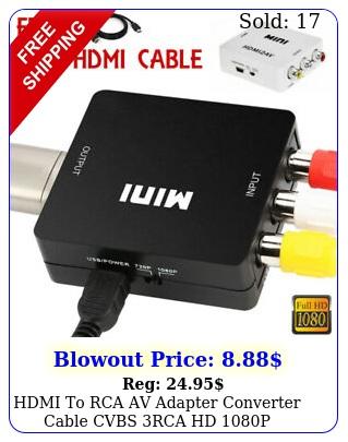 hdmi to rca av adapter converter cable cvbs rca hd p composite video audi
