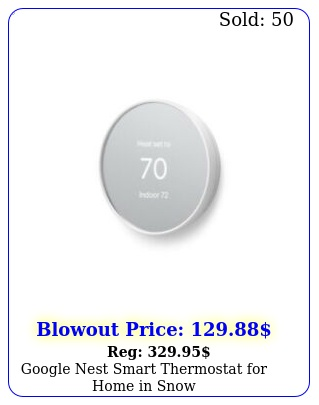 google nest smart thermostat home in sno