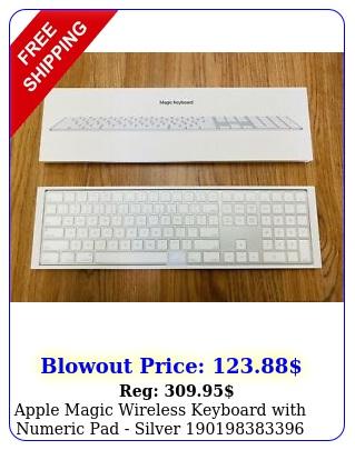 apple magic wireless keyboard with numeric pad silve
