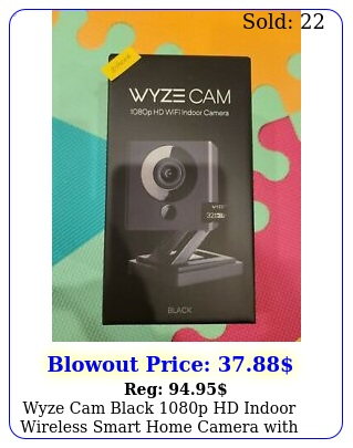 wyze cam black p hd indoor wireless smart home camera with gb microsd car