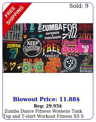 zumba dance fitness womens tank top tshirt workout fitness xs s m