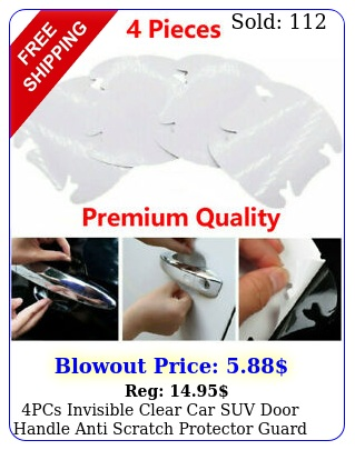 pcs invisible clear car suv door handle anti scratch protector guard film shee