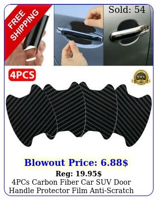 pcs carbon fiber car suv door handle protector film antiscratch cover guard u
