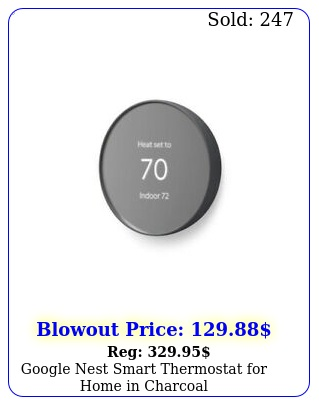google nest smart thermostat home in charcoa