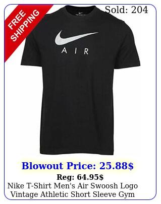 nike tshirt men's air swoosh logo vintage athletic short sleeve gym active te