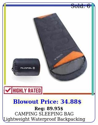 camping sleeping bag lightweight waterproof backpacking hiking compact jeaoui
