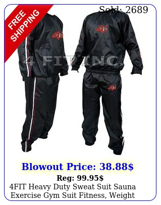 fit heavy duty sweat suit sauna exercise gym suit fitness weight loss antiri