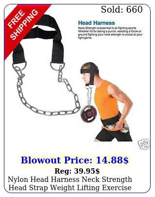 nylon head harness neck strength head strap weight lifting exercise fitness bel