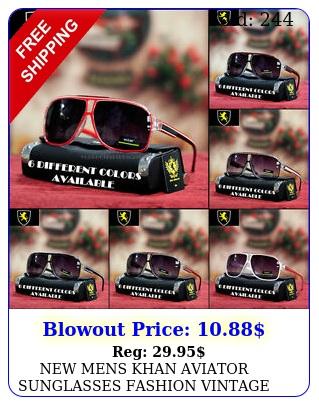 mens khan aviator sunglasses fashion vintage designer sports driving ton