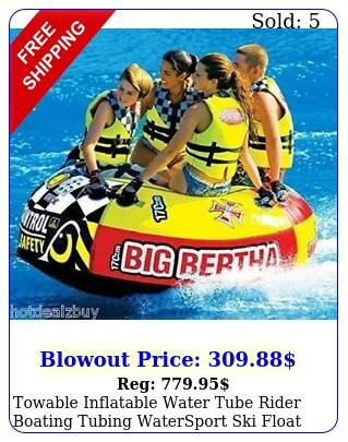 towable inflatable water tube rider boating tubing watersport ski float raf