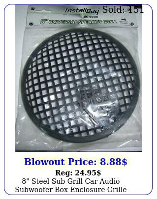 steel sub grill car audio subwoofer enclosure grille speaker cover mes