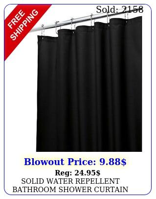 solid water repellent bathroom shower curtain vinyl plastic liner blac