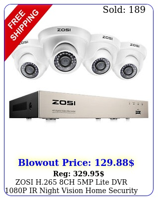zosi h ch mp lite dvr p ir night vision home security camera system u