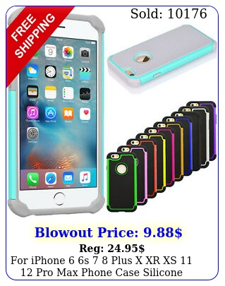 iphone s  plus x xr xs  pro max phone case silicone hybrid cove