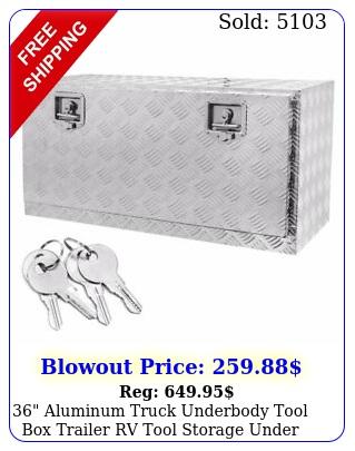 aluminum truck underbody tool trailer rv tool storage under bed w loc