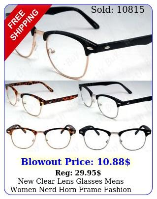 clear lens glasses mens women nerd horn frame fashion eyewear designer retr