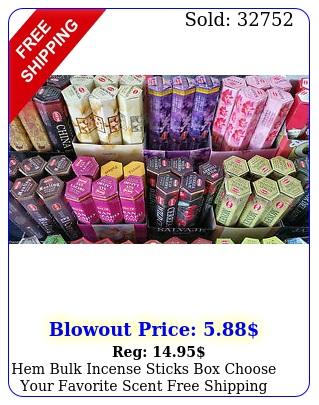 hem bulk incense sticks choose your favorite scent free shippin