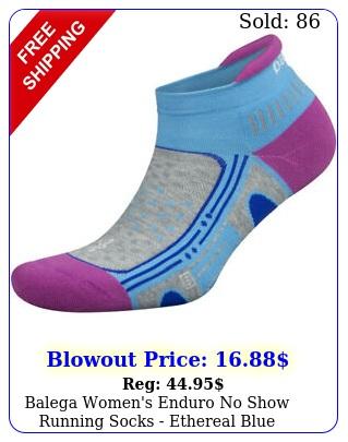balega women's enduro no show running socks ethereal blu