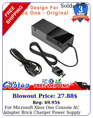 microsoft xbox one console ac adapter brick charger power supply cord blac