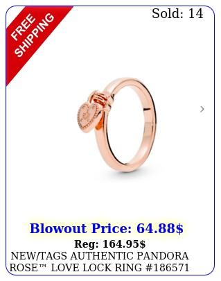 newtags authentic pandora rose love lock ring  retired hing