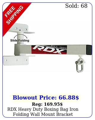 rdx heavy duty boxing bag iron folding wall mount bracket punching mma trainin
