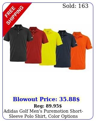 adidas golf men's puremotion shortsleeve polo shirt color option