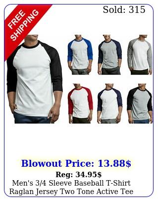 men's sleeve baseball tshirt raglan jersey two tone active te