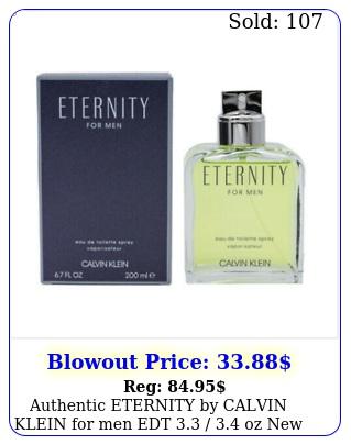 authentic eternity by calvin klein men edt  oz in bo