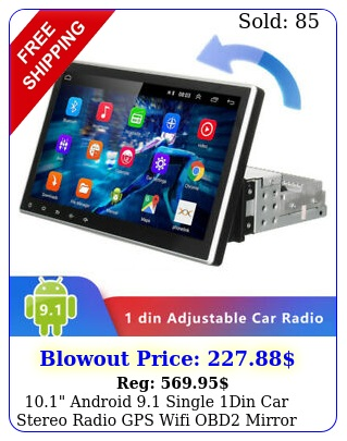 android single din car stereo radio gps wifi obd mirror link playe