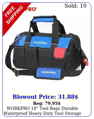 workpro tool bags durable waterproof heavy duty tool storage with hard bas