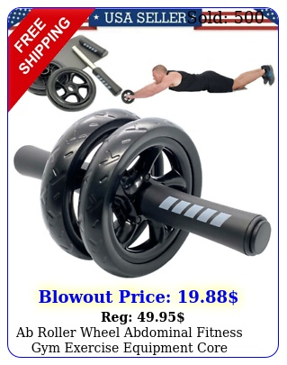 ab roller wheel abdominal fitness gym exercise equipment core workout trainin