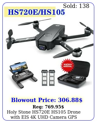holy stone hse hs drone with eis k uhd camera gps foldable fpv quadcopte