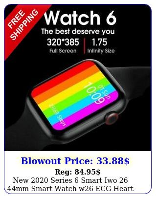 series smart iwo mm smart watch w ecg heart rate monitor tem