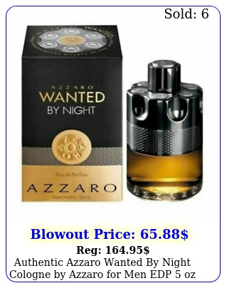 authentic azzaro wanted by night cologne by azzaro men edp oz in bo