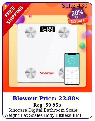 sinocare digital bathroom scale weight fat scales body fitness bmi bluetoot
