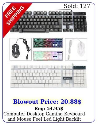 computer desktop gaming keyboard mouse feel led light backli