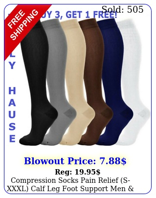 compression socks pain relief sxxxl calf leg foot support men wome