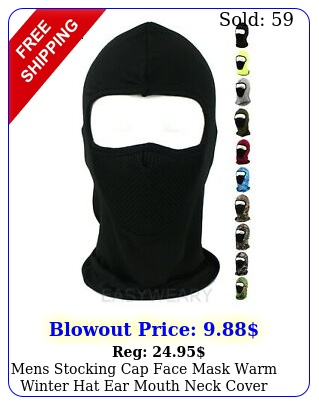 mens stocking cap face mask warm winter hat ear mouth neck cover balaclava mas