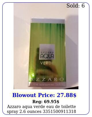 azzaro aqua verde eau de toilette spray ounce
