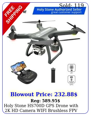 holy stone hsd gps drone with k hd camera wifi brushless fpv rc quadcopte