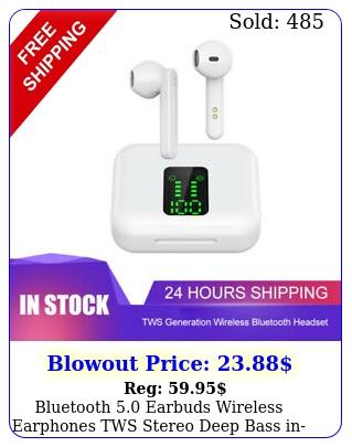 bluetooth earbuds wireless earphones tws stereo deep bass inear headphone