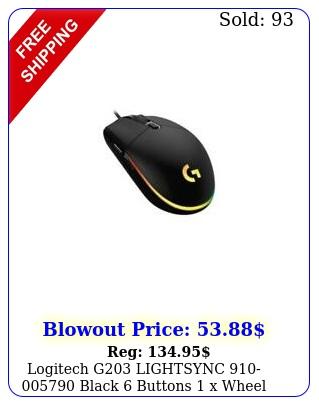 logitech g lightsync black buttons x wheel usb wired gaming m
