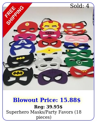 superhero masksparty favors piece