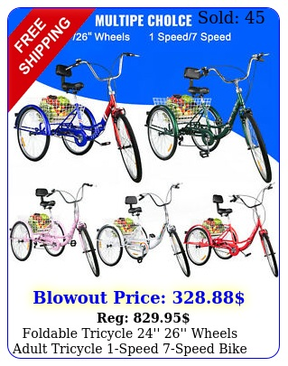 foldable tricycle '' '' wheels adult tricycle speed speed bike adul
