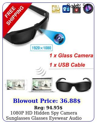 p hd hidden spy camera sunglasses glasses eyewear audio video recorder dv
