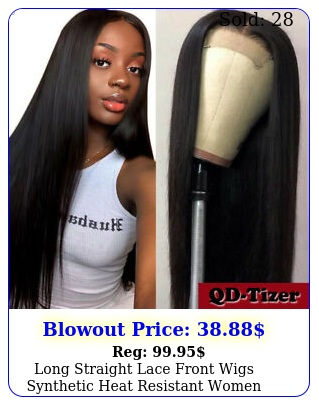 long straight lace front wigs synthetic heat resistant women hair pre plucke