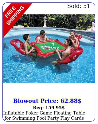 inflatable poker game floating table swimming pool party play cards game