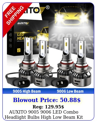 auxito  led combo headlight bulbs high low beam kit k white l