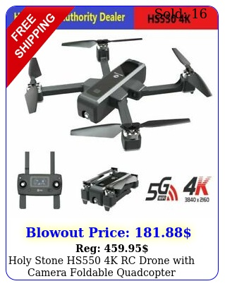 holy stone hs k rc drone with camera foldable quadcopter brushless gp