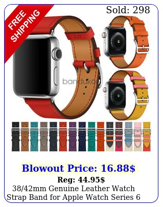 mm genuine leather watch strap band apple watch series   m